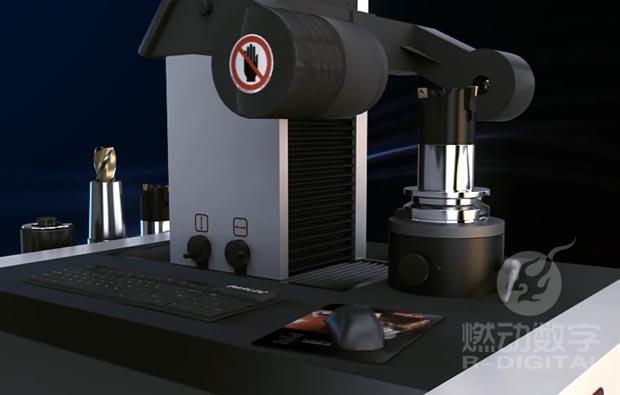 数控对刀仪三维动画制作