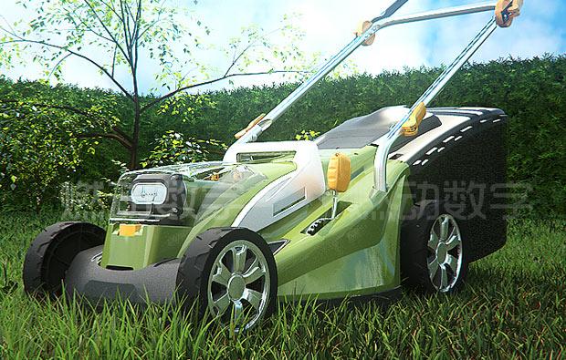 園林機械工具三維動畫演示——割草機仿真三維動畫