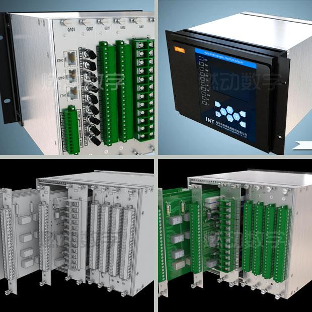 智能變電站數字化保護測控裝置三維動畫演示