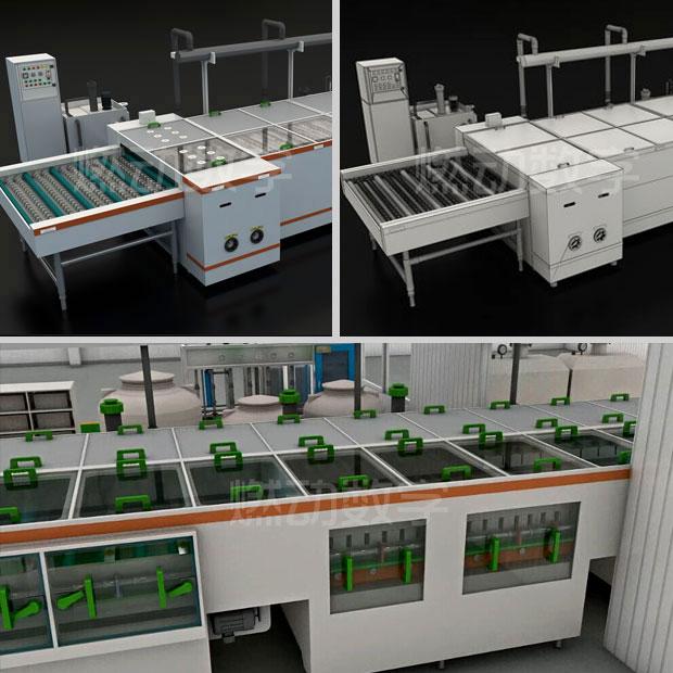 超聲波清洗機工作原理三維動畫仿真演示制作