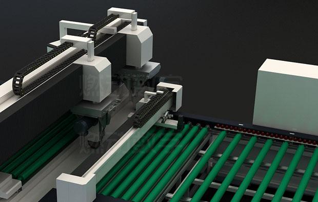 玻璃磨邊機三維動畫仿真演示制作