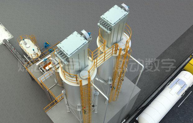 礦山機械——石灰乳制備投加裝置三維動畫仿真演示