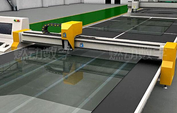 玻璃切割机/气浮玻璃掰片机三维动画制作