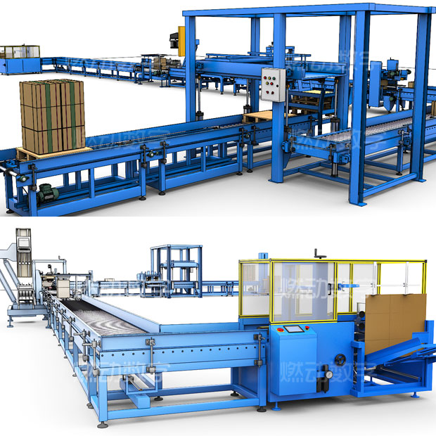 包裝印刷生產線三維動畫仿真演示制作
