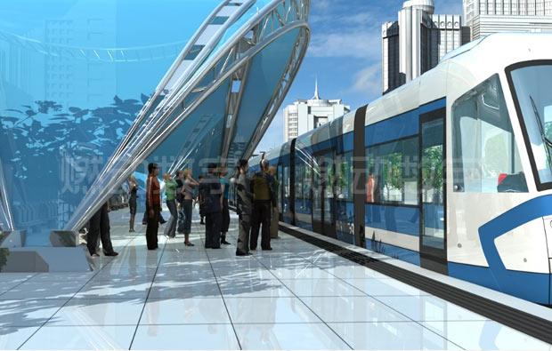 城市轻轨三维动画仿真演示图片