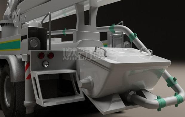 混凝土泵车三维动画仿真演示