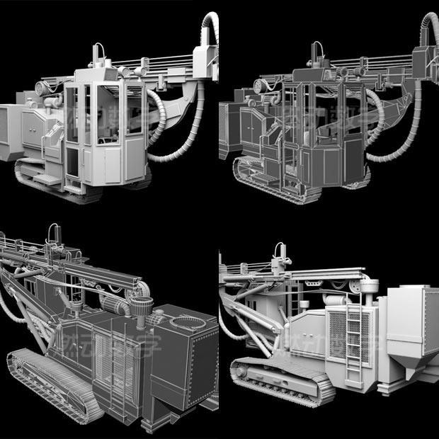 工業三維動畫——采礦鑿巖鉆車
