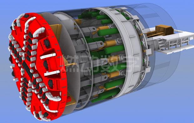 隧道盾构机三维演示动画——双模式复合盾构设备