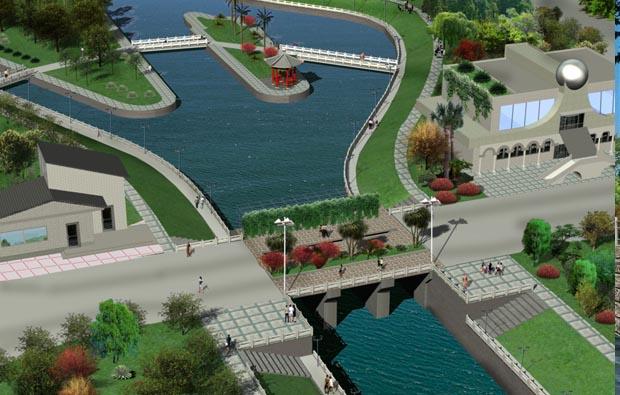 水閘泵站施工三維動畫