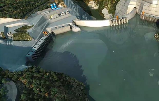 水利工程施工動畫