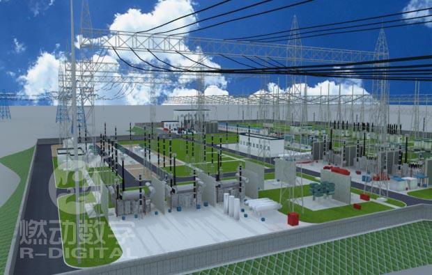 220kv變電站工程三維動畫演示系統