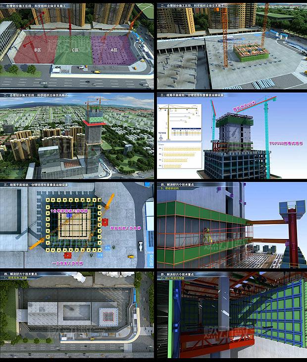 建设工程三维动画——施工项目汇报演示