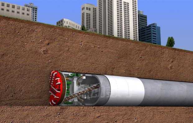隧桥工程施工三维动画演示制作——盾构机施工演示