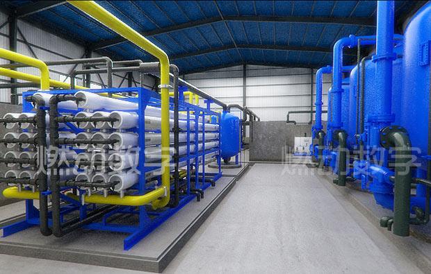 海水淡化系统/水处理工艺过程工业三维仿真演示动画