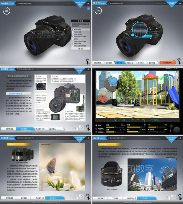 三维教学应用开发——数码相机交互演示平台