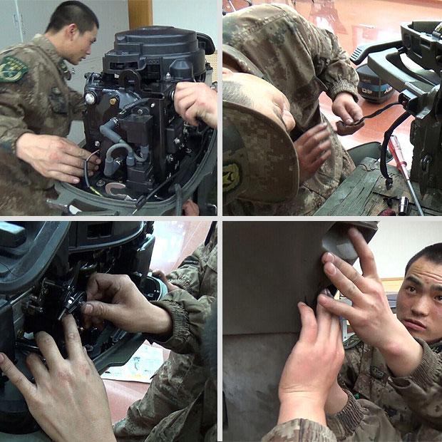 工程兵水上動力機械維修課程拍攝