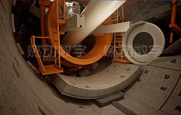 宁高城际轨道土压平衡盾构施工项目汇报三维动画演示